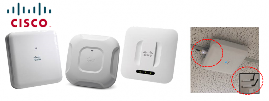 CISCO AP with USB Type BLE Scannser